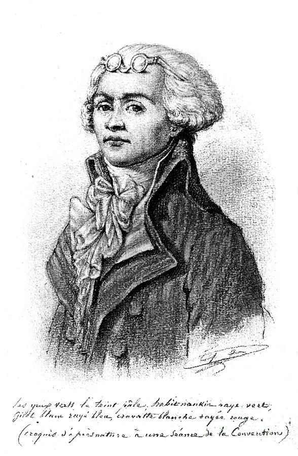 Maximilien Robespierre, drawing by Baron François Pascal Gerard