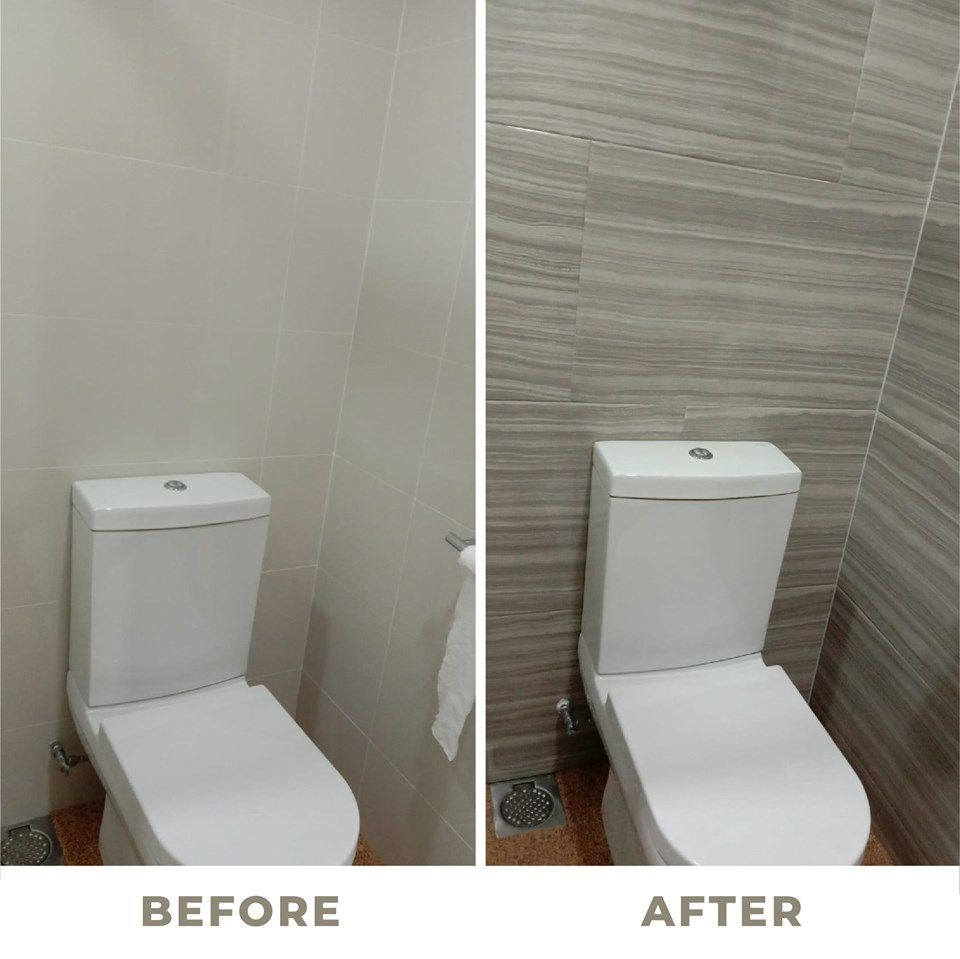 Did You Know That Overlaying Your Bathroom Tiles Or Planks Are Cheaper As It Involves Lesser Works As Comp Tile Bathroom Bathroom Floor Tiles Bathroom Redesign