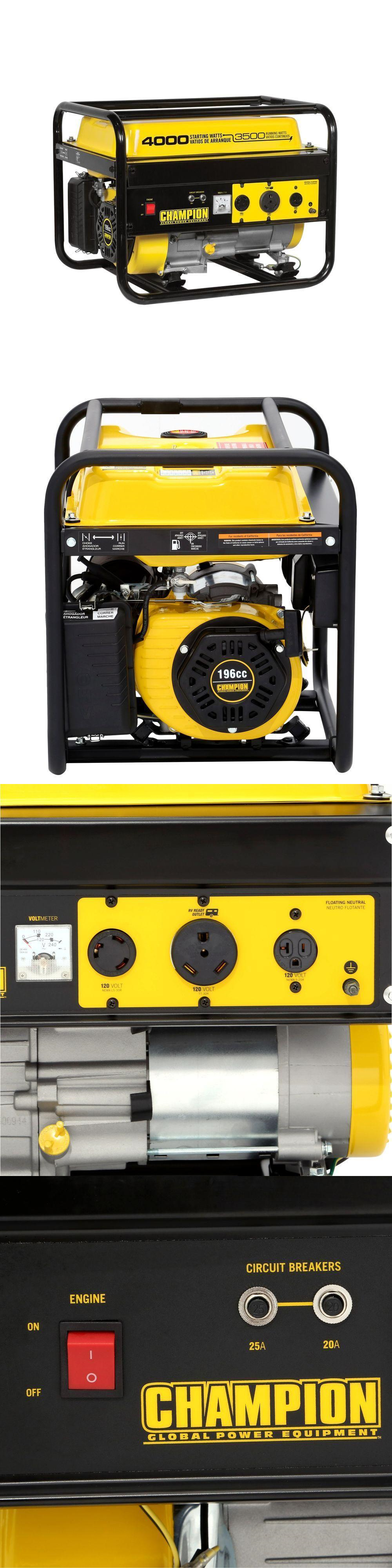 Generators 33082 Champion Power Equipment Portable Generator 3500 Circuit Breaker Ebay 4000 Watt Gas Recoil Rv 46596