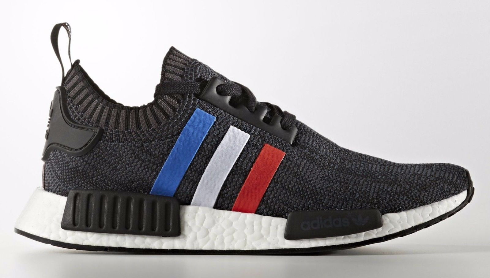 ADIDAS NMD R1 PK PRIMEKNIT TRI COLOR TRI-COLOR BLACK BB2887 Men size