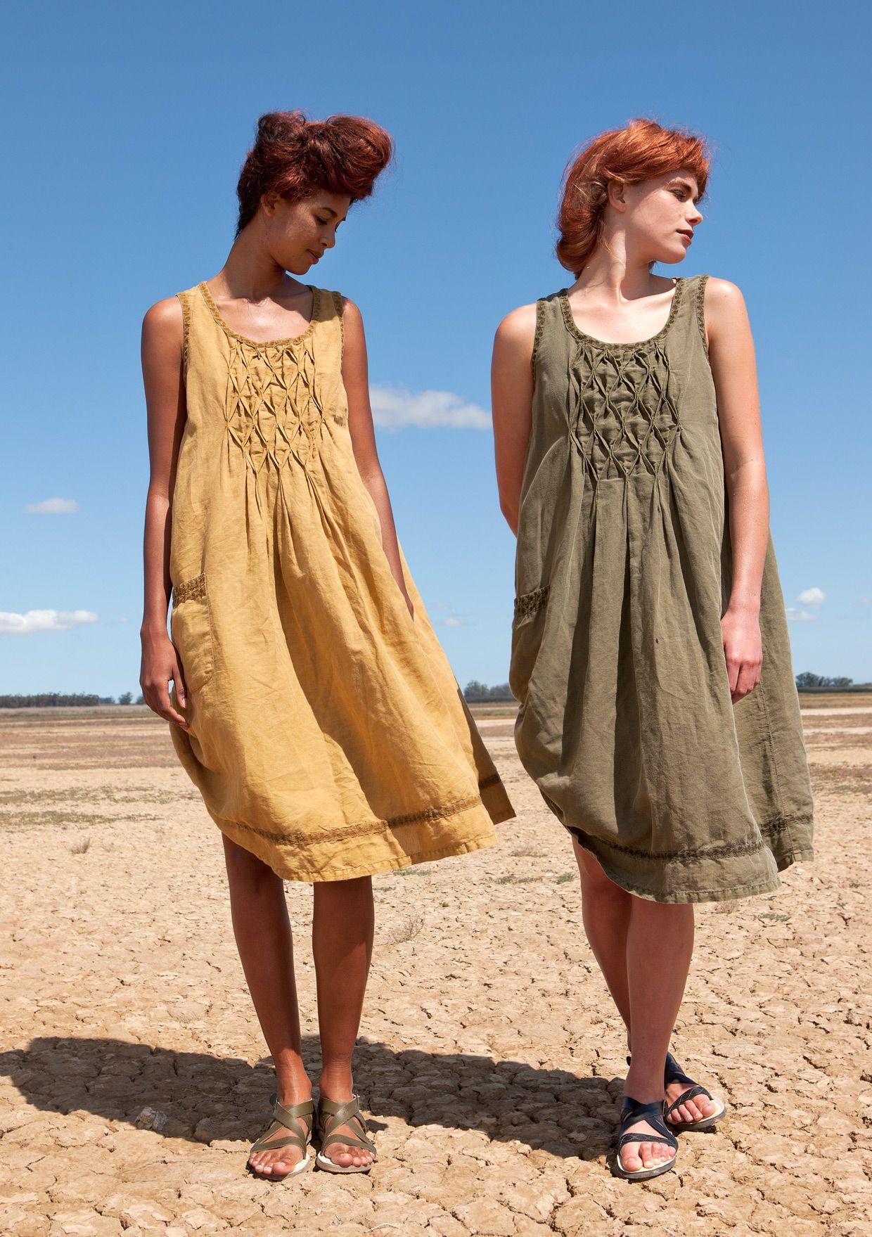 Kleid baumwolle leinen