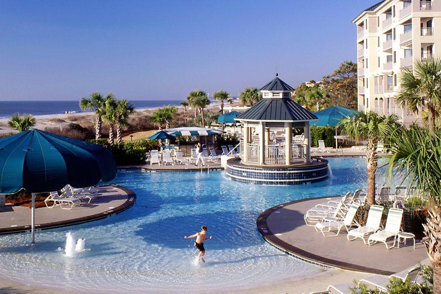 Marriott Barony Beach Club Resort Pool Zero Entry Paradise Beacheshilton Head Islandbeach