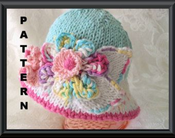Baby Hat Pattern Knitted Hat Pattern Newborn Hat di CottonPickings
