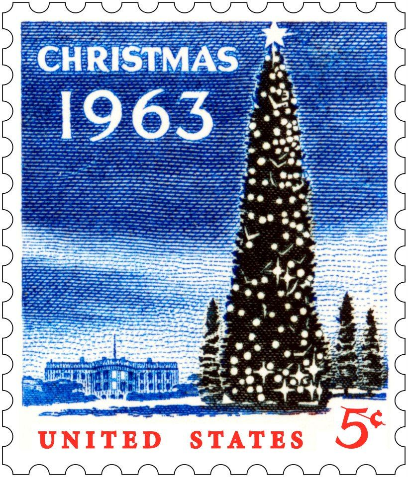 USPS Stamps (The Christmas stamp issued the previous year