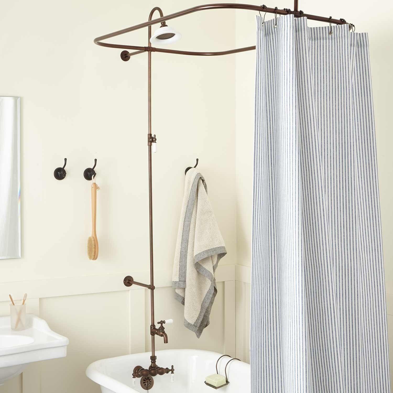 High Quality Leg Tub Solid Brass Shower Enclosure Set