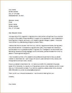 Letter Requesting Graduate School Recommendation Download At Http