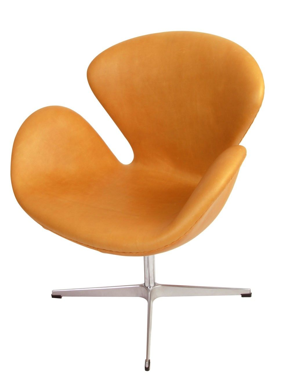 Arne Jacobsen Swan Chair Replica In Leather Ampersand Furniture
