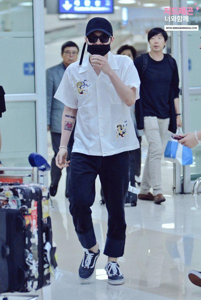 160604 G Dragon At Incheon Airport Model Pakaian Bandara Pakaian Pria Model Pakaian Pria