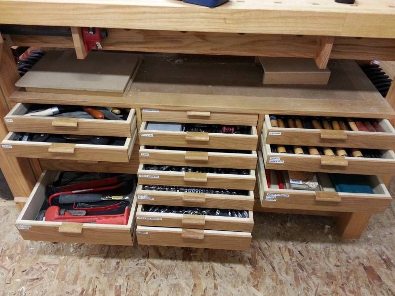 tool drawers Tool drawers, Wooden tool boxes, Diy workbench