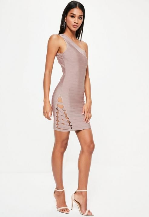 153bce36eeb65 Missguided Purple Bandage One Shoulder Bodycon Dress | Products