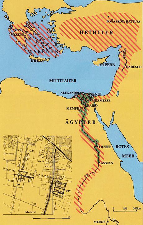© Ramses-Stadt, E.B. Pusch/J. Klang: Das östliche Mittelmeer und seine Kulturen in der Bronzezei. Roemer-Pelizaeus Museum: Erforschung der Ramses-Stadt