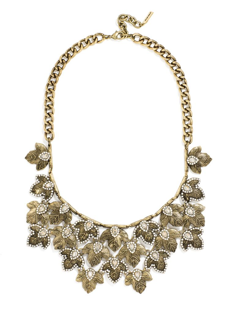 Add some whimsy with a vintage-inspired botanical statement necklace.