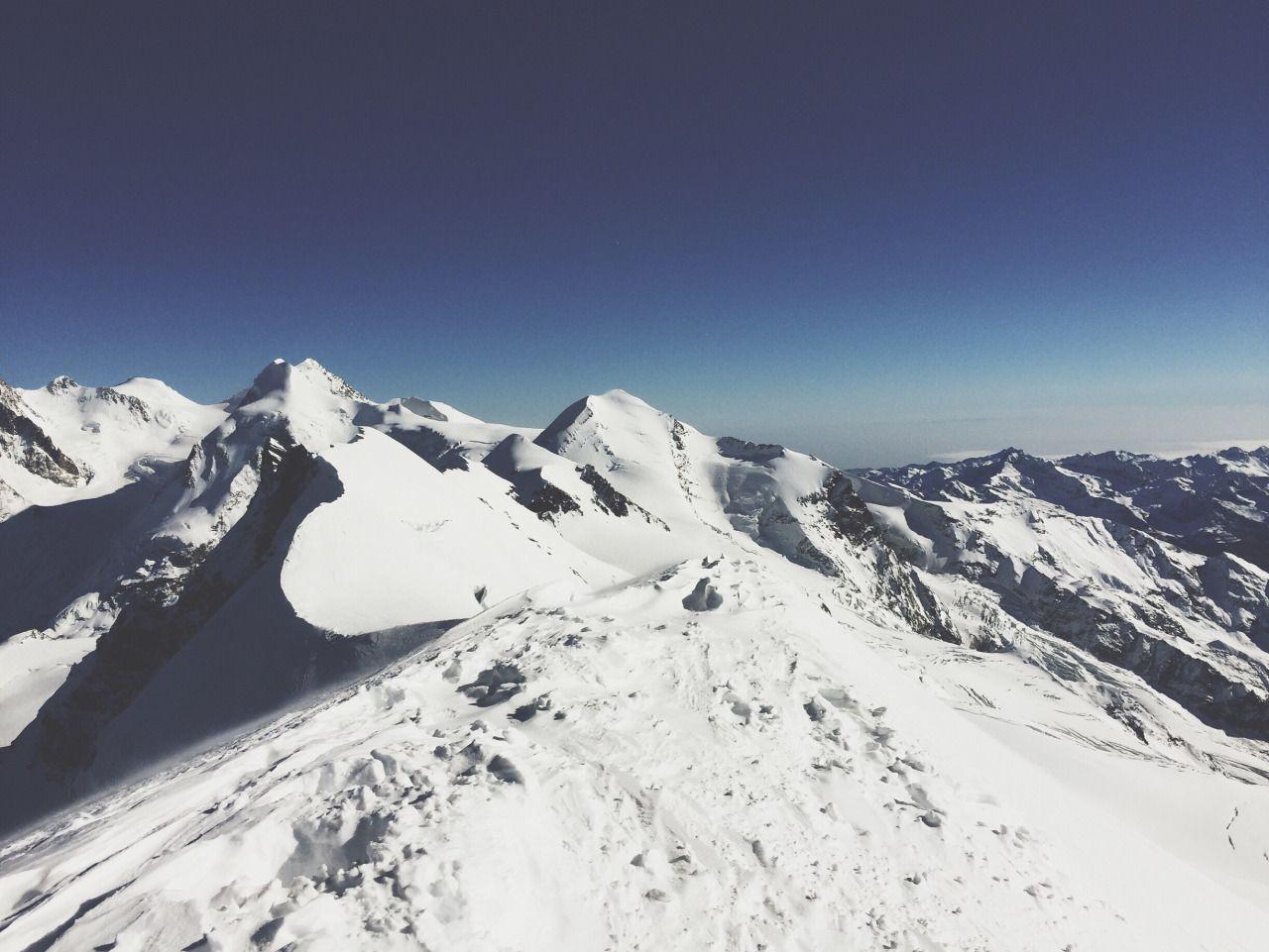 Dalla cima del Breithorn. 4164 m slm