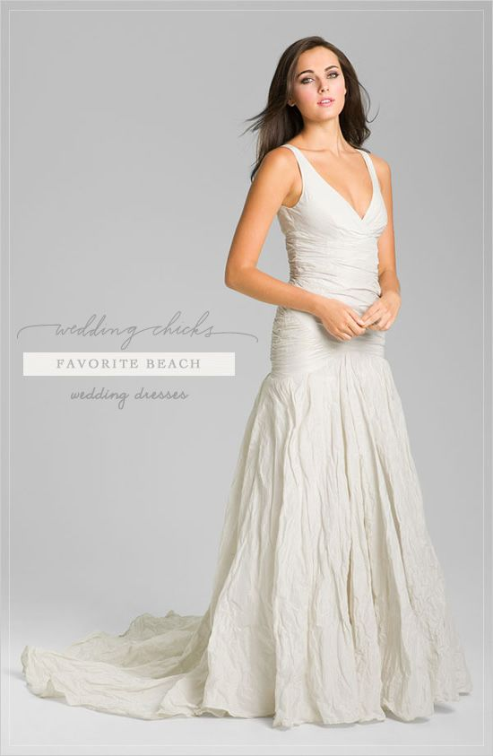 Our Favorite Beach Wedding Dresses | Beach weddings, Nicole miller ...