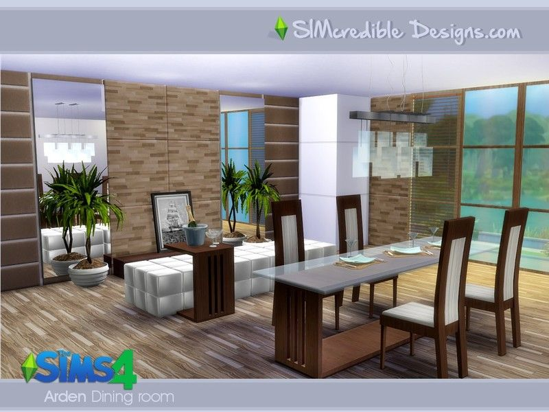 Elegant ... Time For Your This Simple Modern But Stylish Set. It Has 11 Pieces,  Mostly With 3 Colors Variations. Found In TSR Category U0027Sims 4 Dining Room  Setsu0027