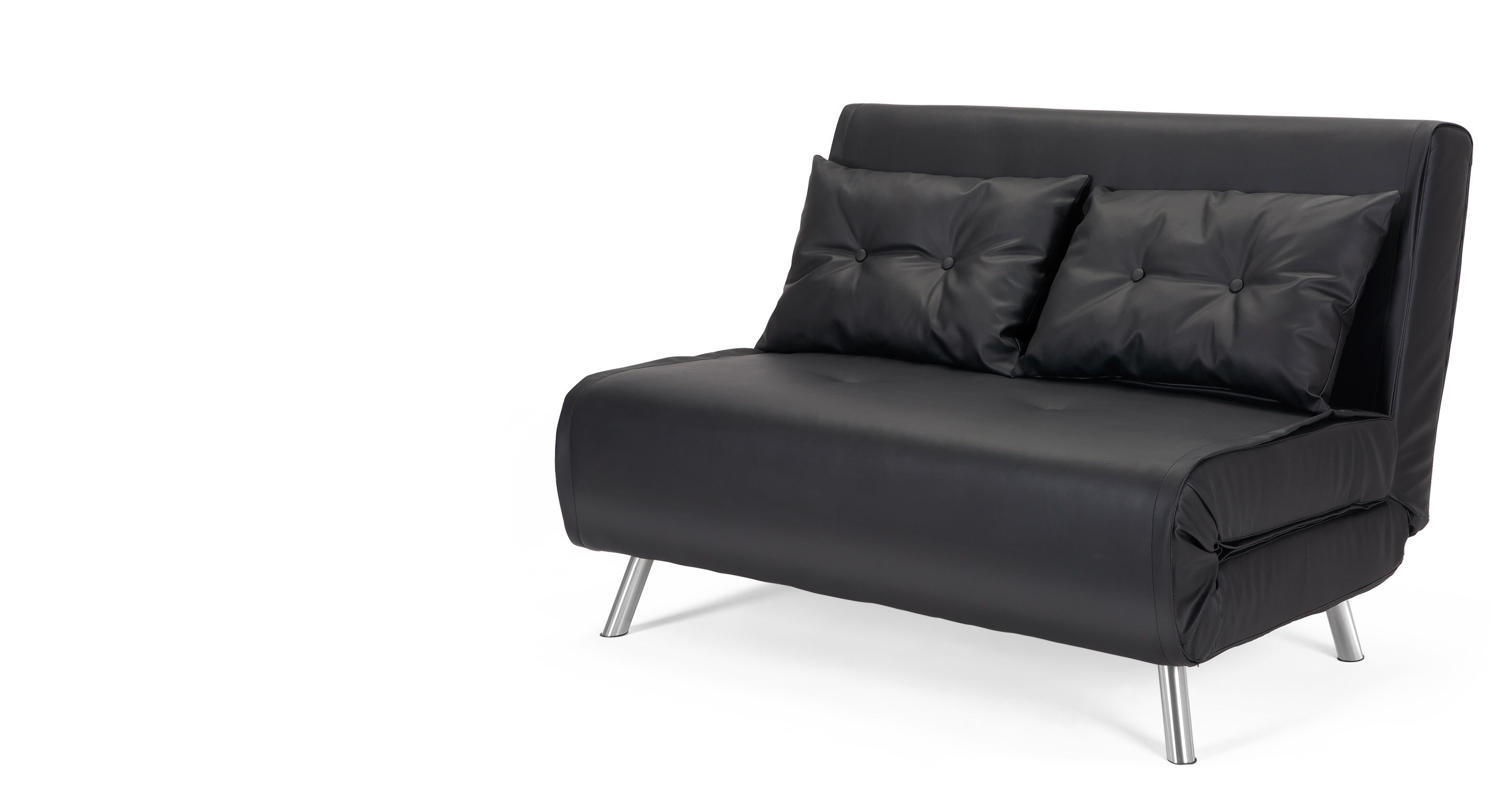 Haru Small Sofa Bed Garnet Black from Made pact in size