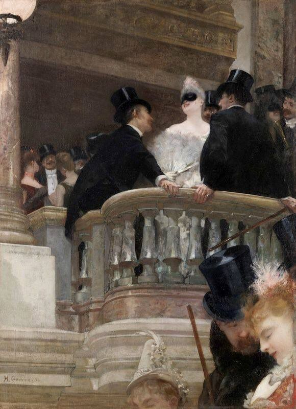 Henri Gervex El Baile De La ópera Paris 1886 Producción Artística Arte Romántico Escenas Románticas