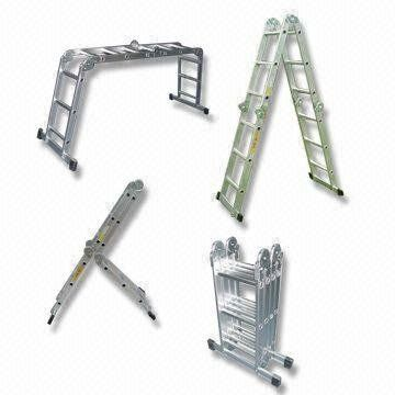 12 Extended Multi Fold Purpose Aluminum Ladder 300 Lbs By Neiko 64 78 This Ladder Can Have At Least 7 Different Uses Aluminium Ladder Ladder Folding Ladder
