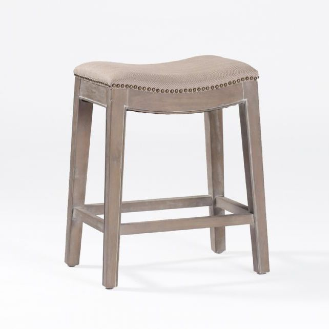 Vivi Counter Stoolthis Versatile Backless Stool Features Brass