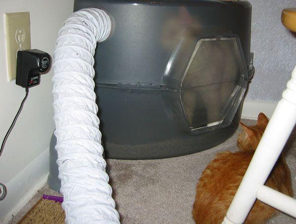 Litter Box Vent Fan Eliminate Cat Litter Stink Cat