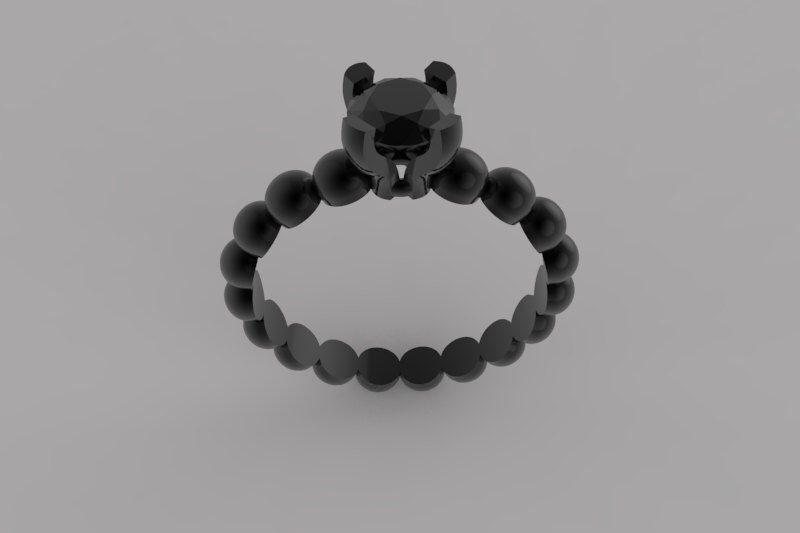 anello solitario in oro nero - unico anello di fidanzamento - black diamond ring - anello di fidanzamento solitario di SpecialJewelryDesign su Etsy https://www.etsy.com/it/listing/230450598/anello-solitario-in-oro-nero-unico