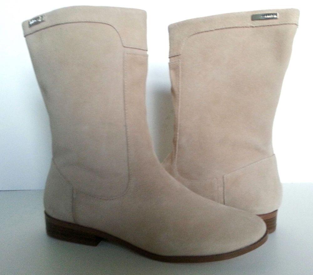 New Calvin Klein Women's Glarisa Suede Natural Boots  #CalvinKlein #FashionAnkleboots