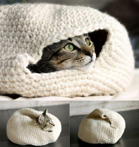 Si buscas inspiración para fabricar una cama para gatos casera, ¿por ...