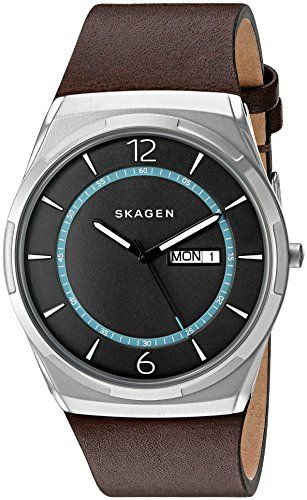 f7d6ee9f822 Skagen Mens SKW6305 Melbye Dark Brown Titanium Leather Watch     Click  image to review more details. (This is an Amazon affiliate link)