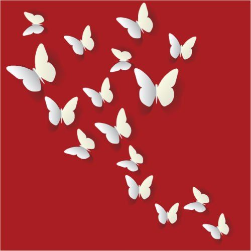 12PCS 3D White Butterfly Wall Stickers Art Decal PVC Butterflies ...