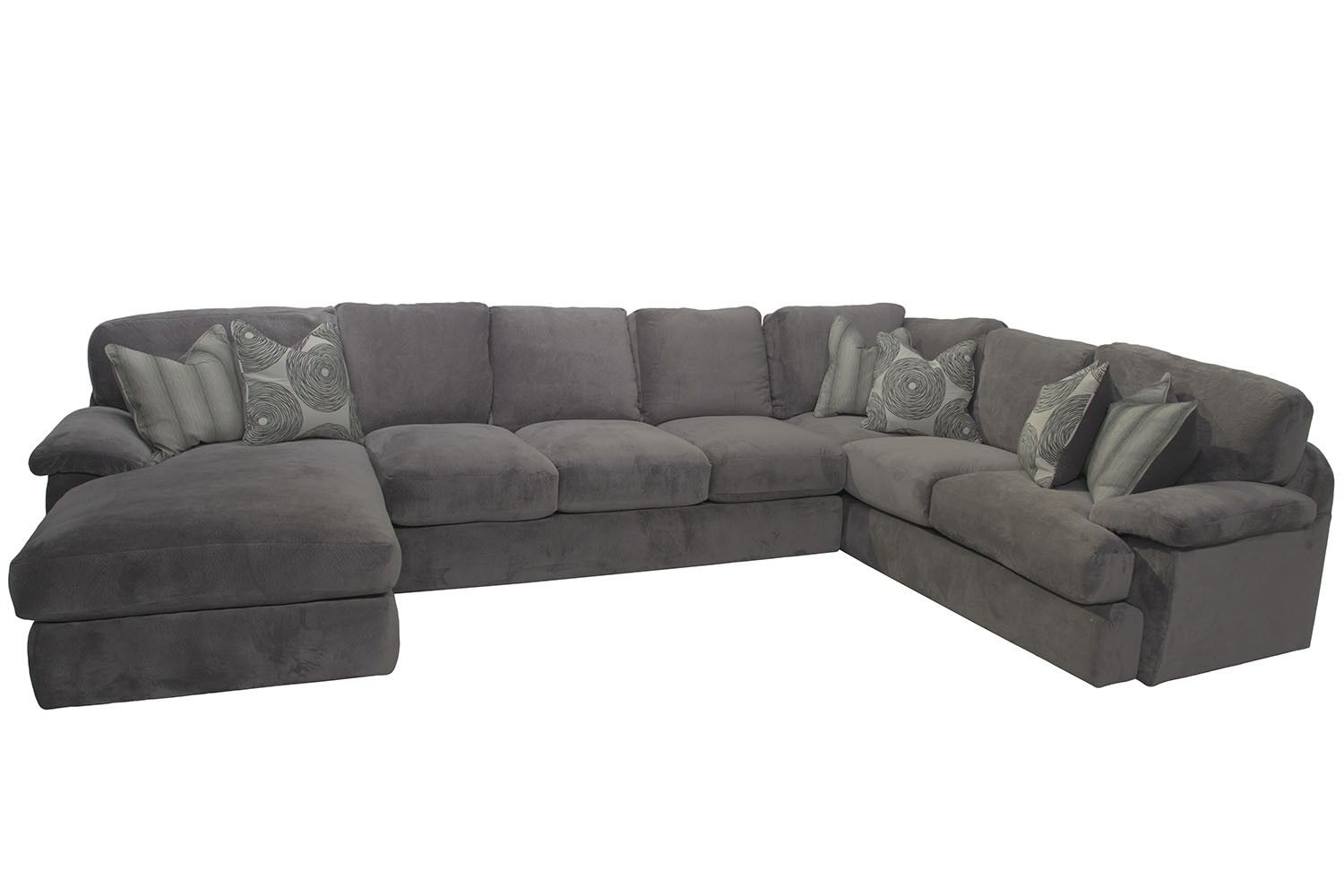 Beau Mor Furniture For Less: Key West Right Facing Sofa Tux Sectional In Gray | Mor  Furniture For Less