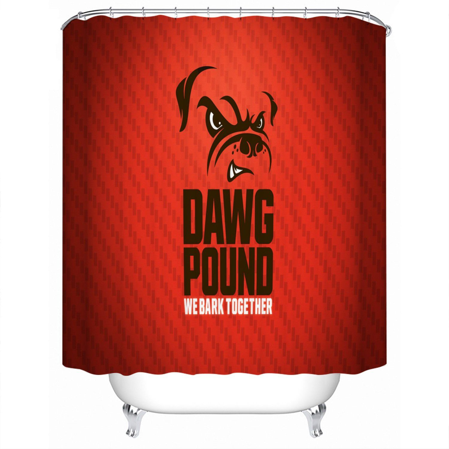 Cleveland Browns Shower Curtain For Bathroom In 2020 Brown Shower Curtain Shower Curtain Decor Shower Curtain