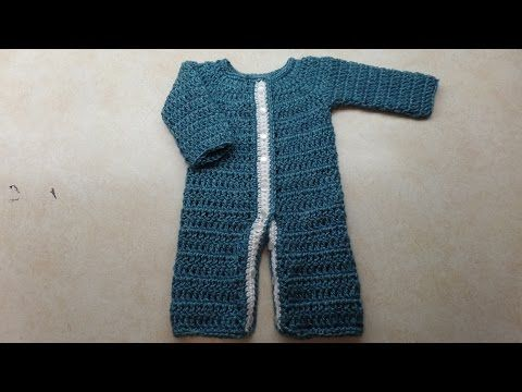 How To Crochet Newborn Boy Girl Romper Sleeper Tutorial Crochet Baby Clothes Crochet Baby Newborn Crochet Patterns