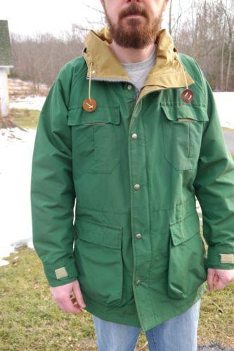 SIERRA DESIGNS USA vtg 70s green 60 40 parka waterproof NYLON zip jacket  mens M 7bb83e8b17f