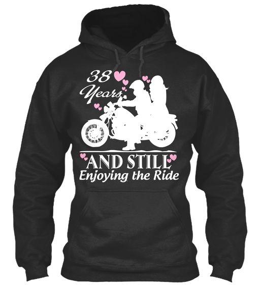38 Years Anniversary Gift Motorcycle Rid