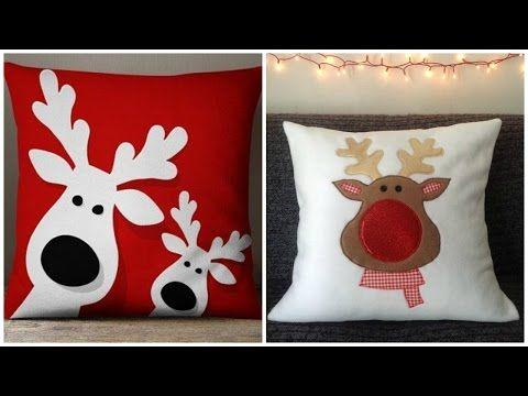 Hacer Cojines Fieltro.Diy Cojines Navidenos Ideas De Cojines Para Navidad