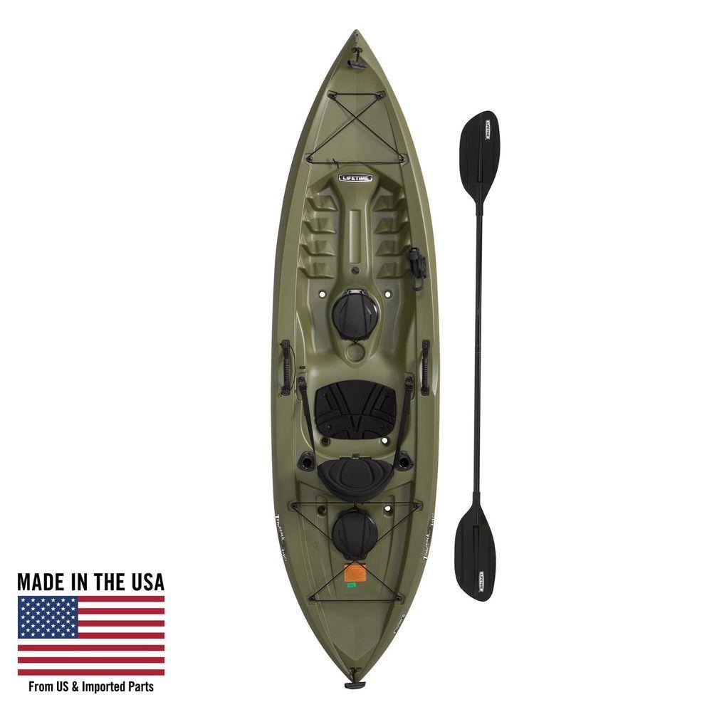 Lifetime Tamarack Angler 100 Fishing Kayak With Paddle