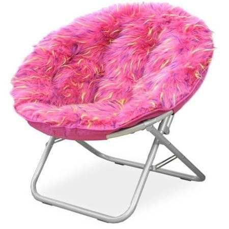 Fluffy Spike Faux Fur Moon Chair Pink 1 Want To Know More