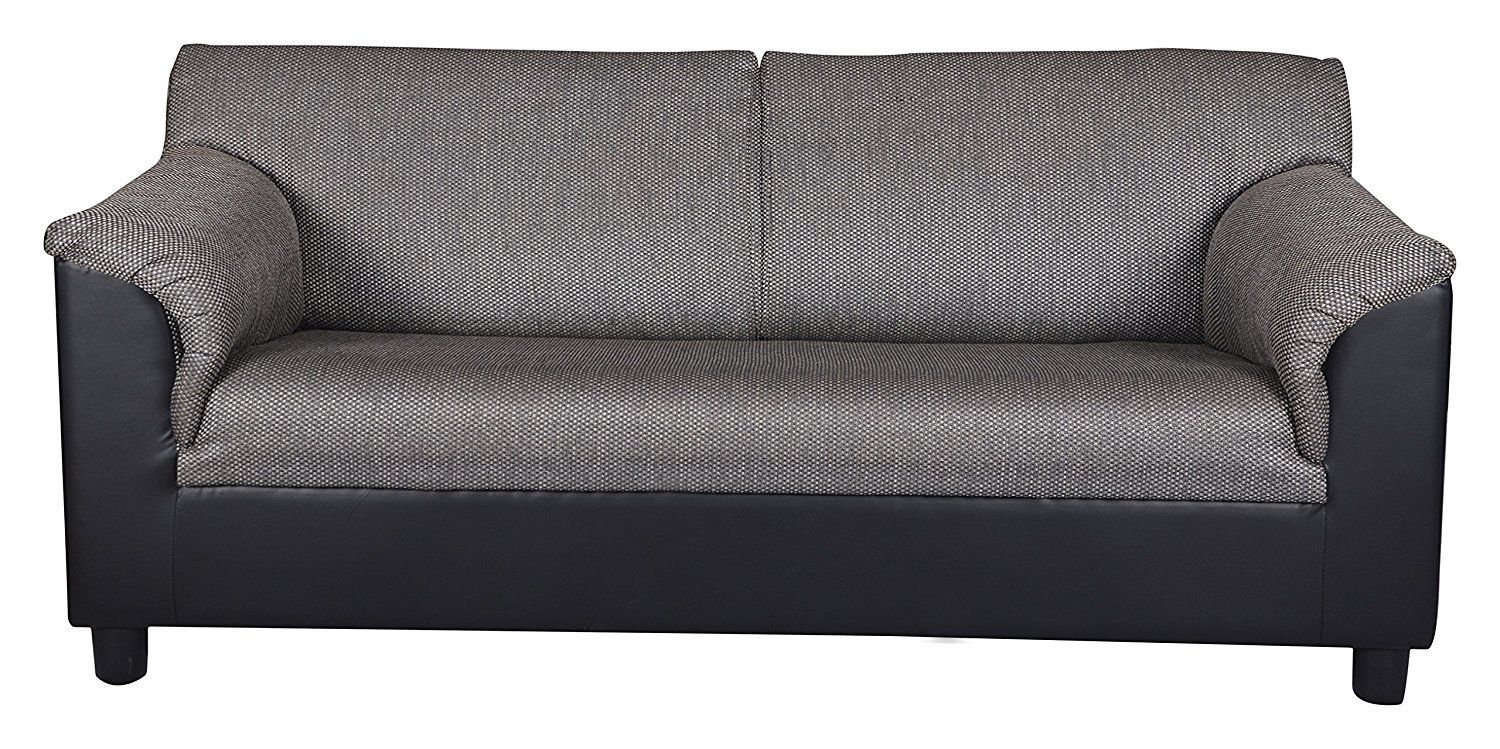 Kurl On Toledo Plus Three Seater Sofa Black Three Seater Sofa Black Sofa Seater Sofa