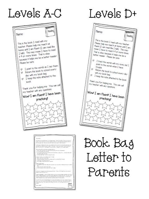 Book Marks to send home with Guided Reading books FOR THE