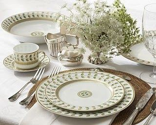 Bernardaud Constance.....my favorite china pattern. I know it is not vintage but it has the look :)