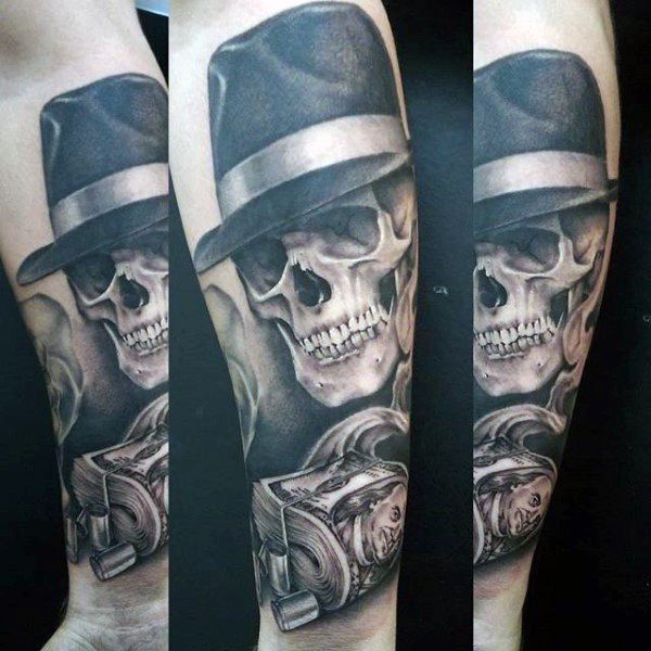 61f18d1cac915 50 Gangster Tattoos For Men - Mobster Design Ideas | tattoos ...