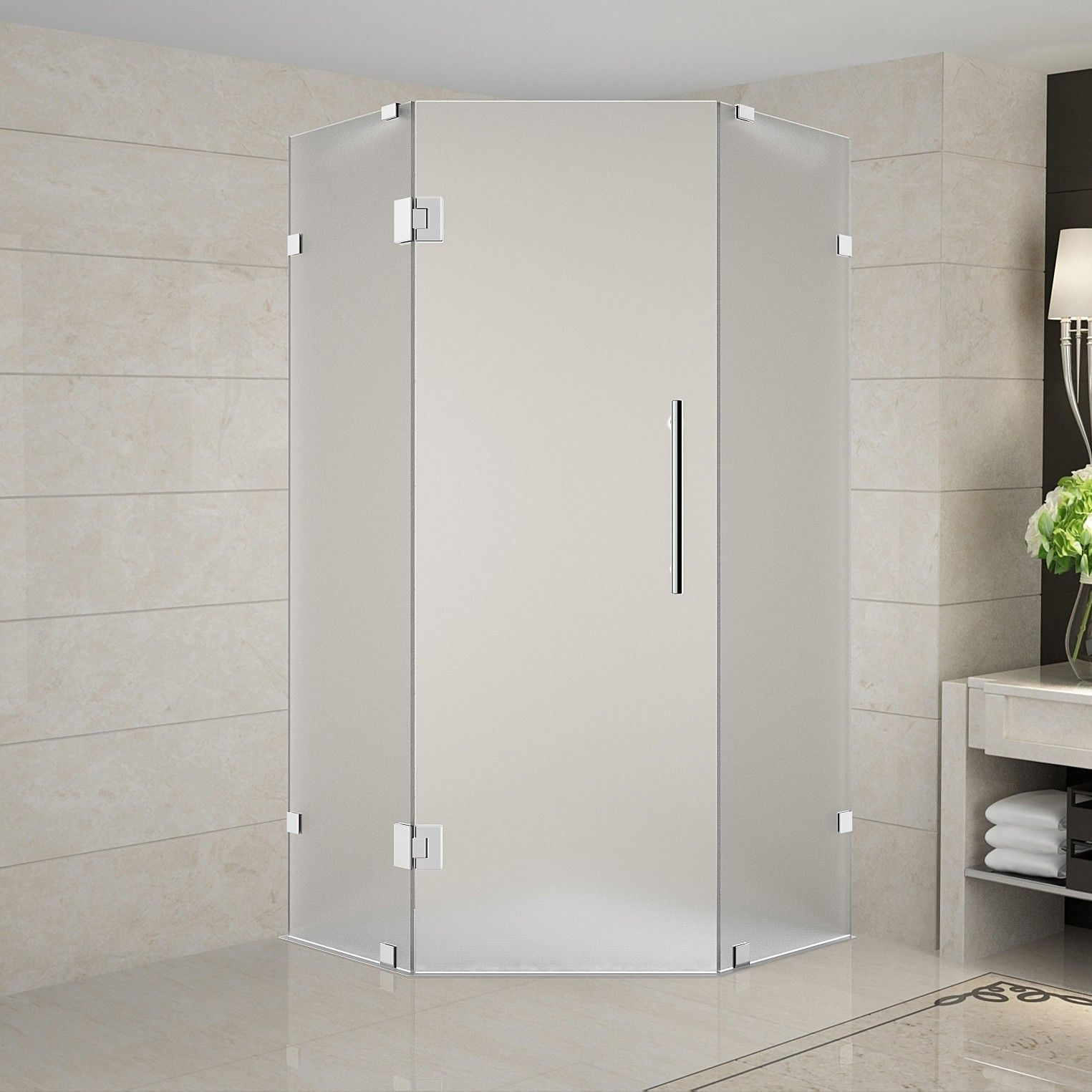 Neoscape 42 X 72 Neo Angle Hinged Shower Enclosure Shower