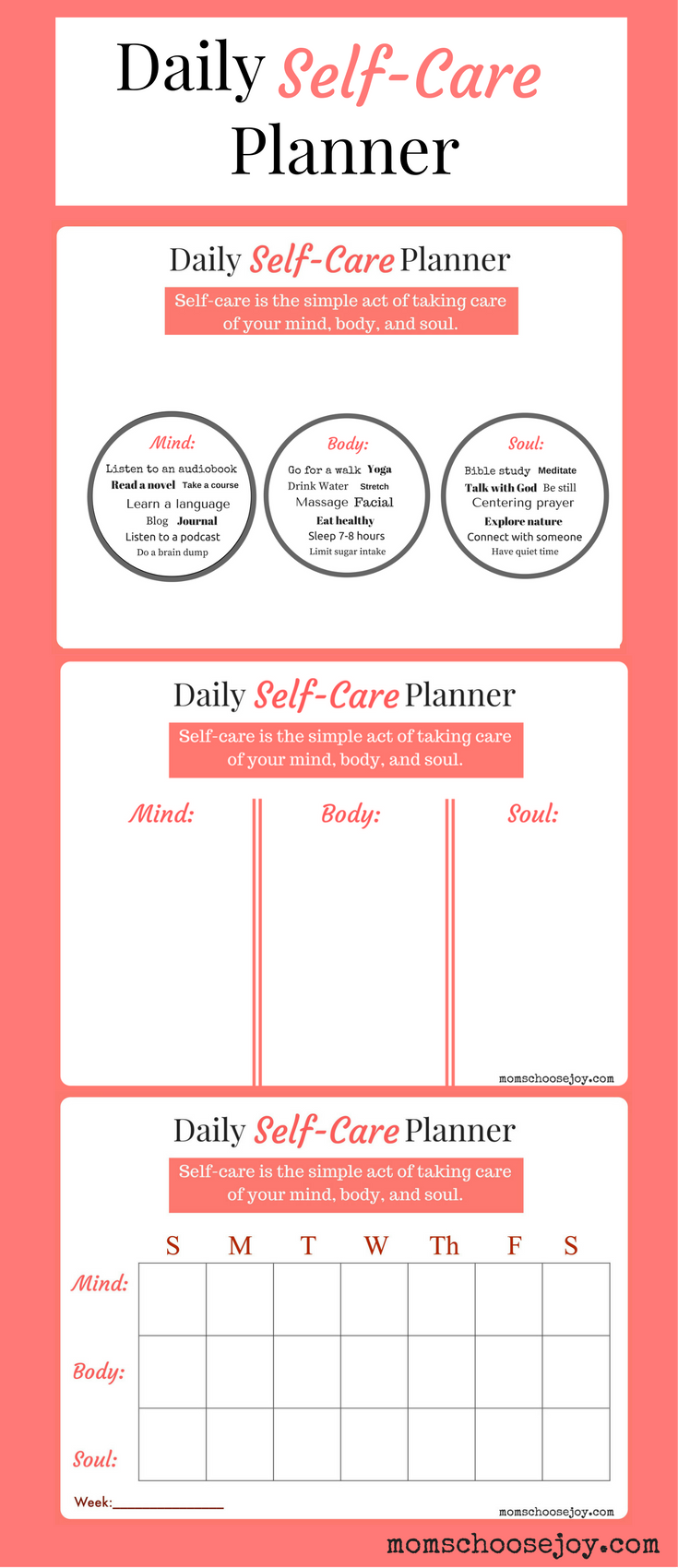 Do you prioritize self care a daily self care planner for Self care plan template