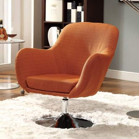Enjoyable Coaster Company Accent Chair Orange Upholstered Accent Pdpeps Interior Chair Design Pdpepsorg