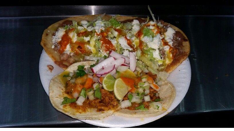 Huaraches de Suadero (Top) & Tacos de Al Pastor (Bottom