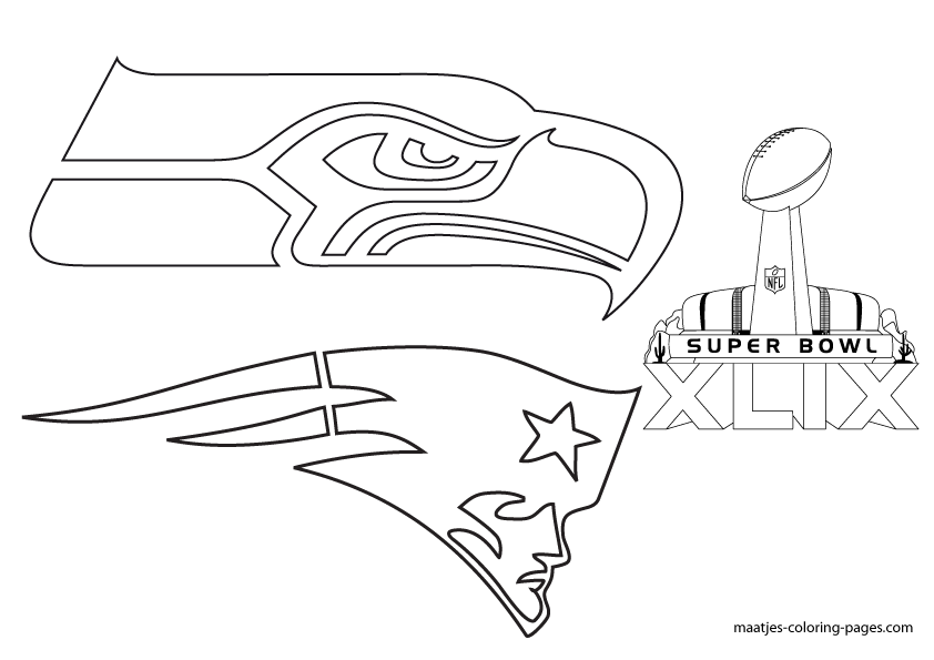 more super bowl xlix coloring pages on maatjes coloring pagescom - Super Bowl Coloring Pages