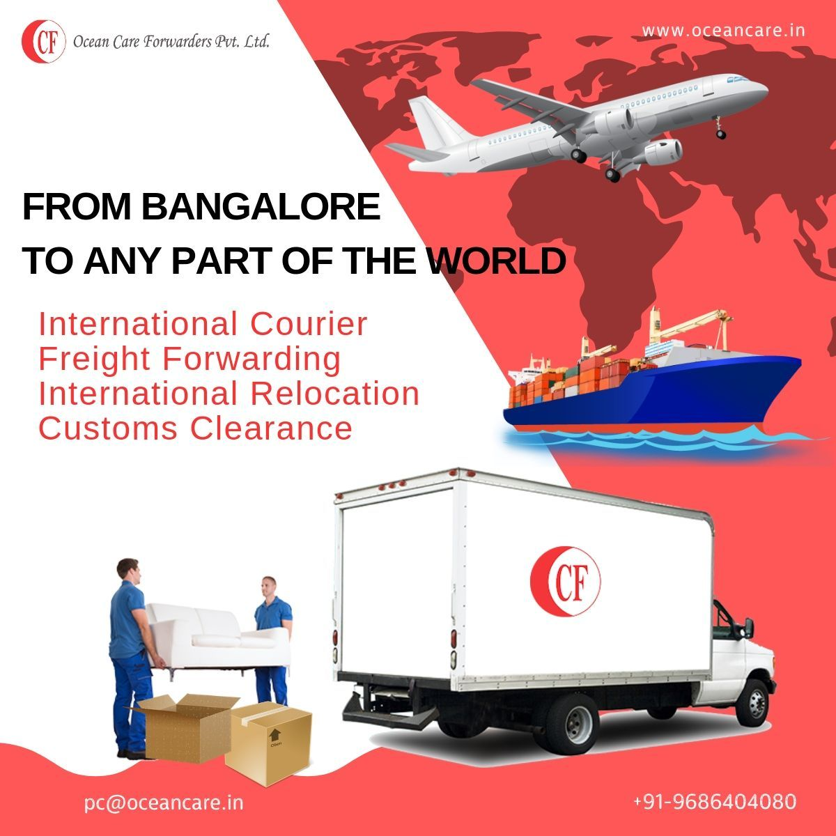Forwarders Pvt. Ltd Relocation, Airfreight, Relocation