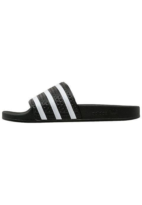 lace up in sale usa online authentic quality adidas Originals ADILETTE - Sandales de bain - black/white ...