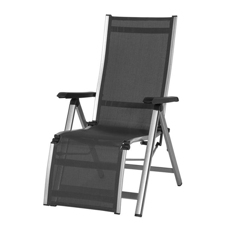 Relaxstuhl Elements - Aluminium/Textil Anthrazit, Mwh Jetzt - lounge gartenmobel gunstig