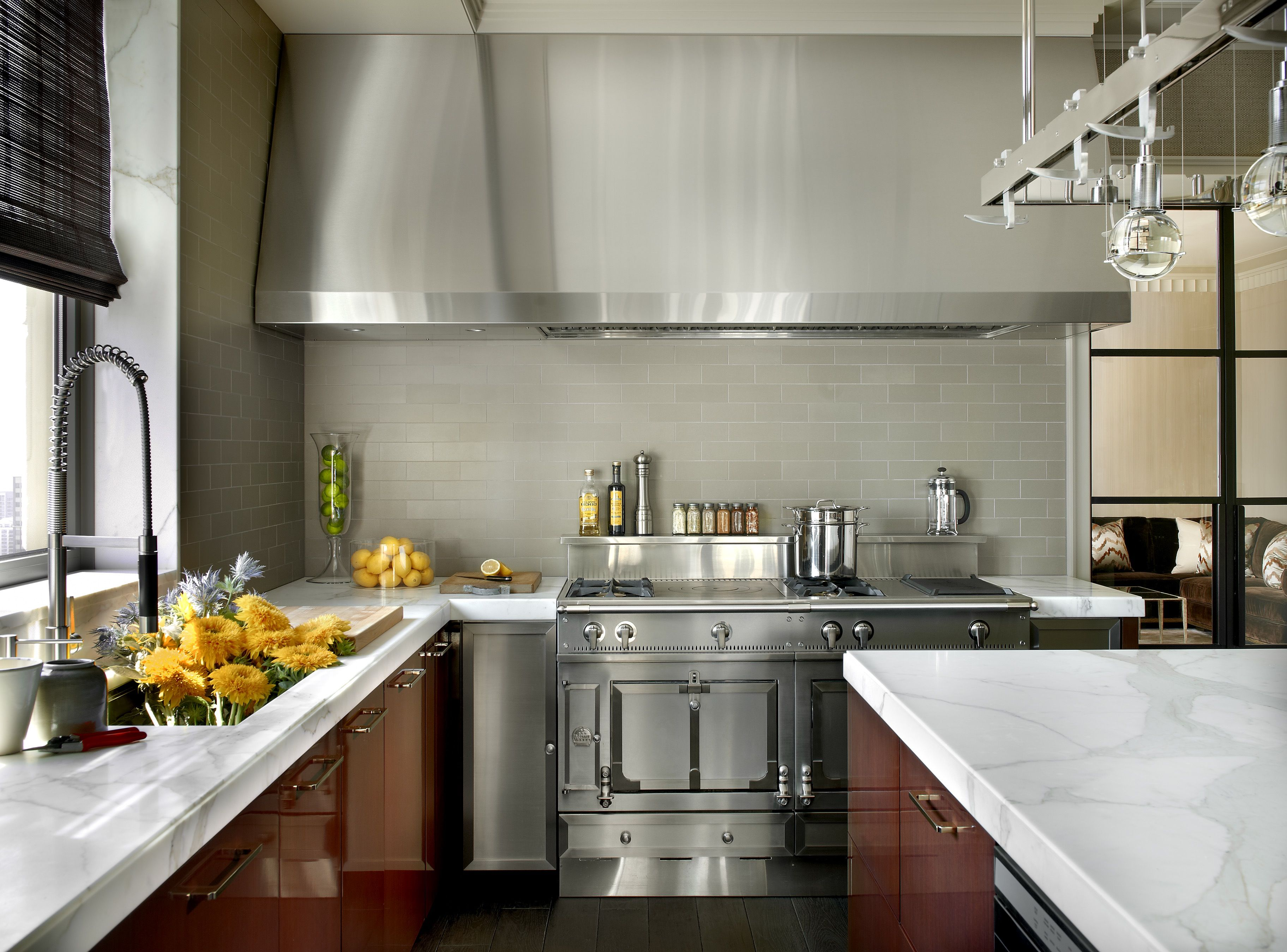 Inside a Chicago Penthouse with Custom Finishes Kitchen